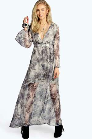 Sofia Grey Print Wide Sleeve Woven Maxi Dress34 azz16134_multi_default_xl